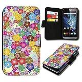 sw-mobile-shop Book Style Huawei Ascend Y635 Premium PU-Leder Tasche Flip Brieftasche Handy Hülle mit Kartenfächer für Huawei Ascend Y635 - Design Flip SV71