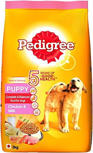 Pedigree Puppy Dry Dog Food, Chicken & Milk, 3kg Pack product image