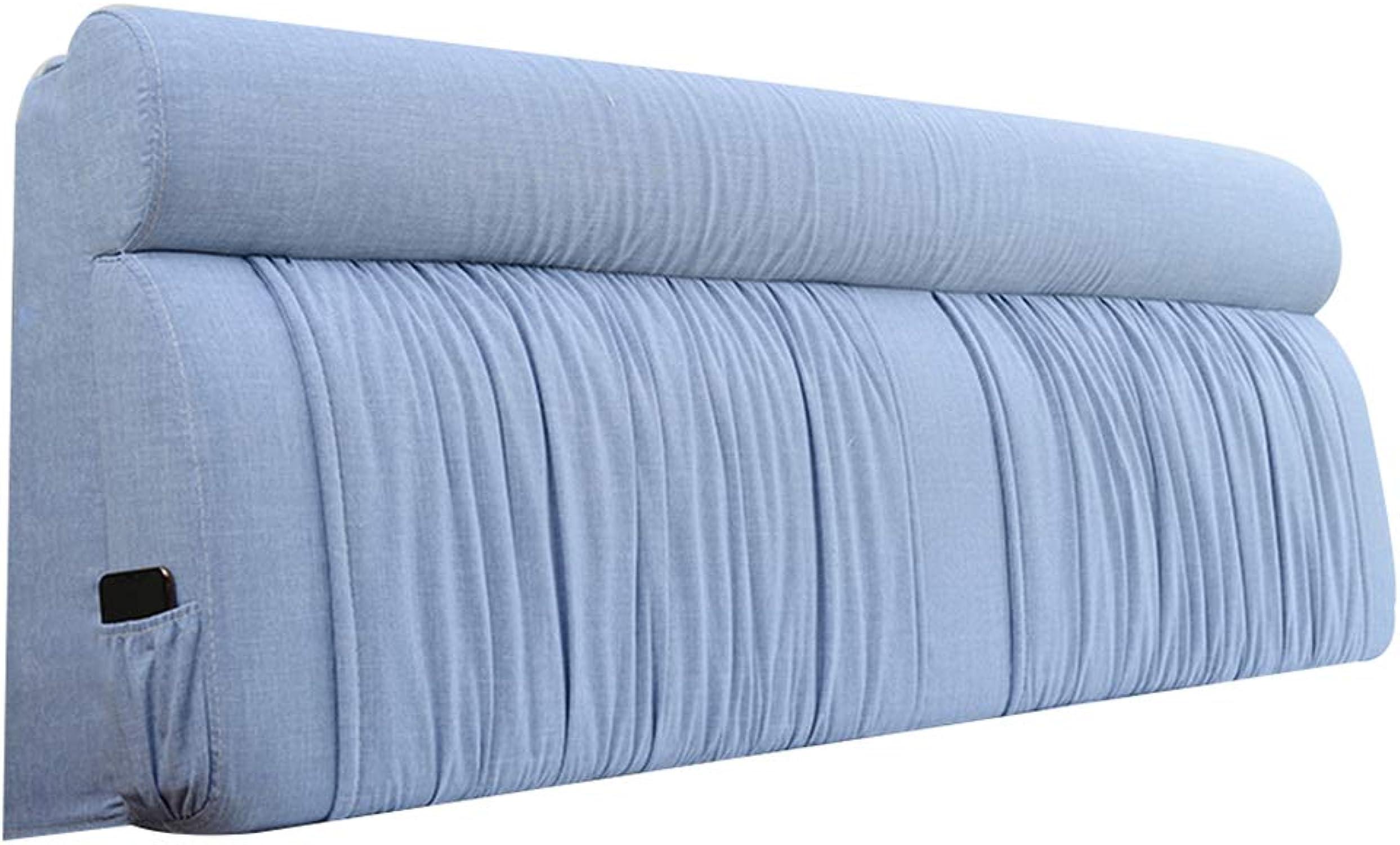 JYW-kaodian Tête De Lit Coussin Wedge PilFaible Housses De Coussins Oreiller étui Souple avec tête de lit Pas de tête de lit 2 Styles, 3 Couleurs 8 Tailles,bleu,withheadboard180cm