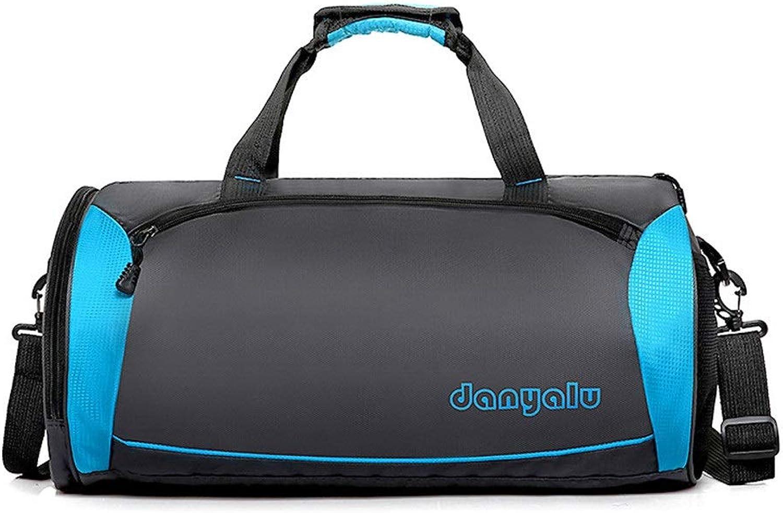 Gububi-Bag Sport Sporttasche Fitness-Trainingspaket Gym Yoga-Tasche wasserabweisend Sport Gym Reisetasche Weibliche Reisetaschen (Farbe   Blau, Gre   L)