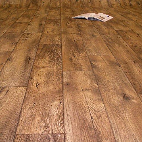 PVC Bodenbelag Holz Rustikal Dunkel (12,90 € p. m²) (Musterstück in DIN A4)