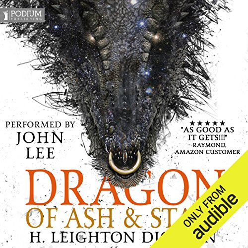 Dragon of Ash & Stars audiobook cover art