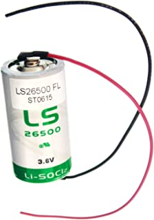 SAFT LS26500_WIRE C 3.6V 7700mAh Lithium Battery For RFID Tracking, Asset Tracking, Theft Prevention, Data Collection, AMR Add-ons,Flashlights, Communications, Smart Munitions, Unattended Sensors