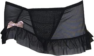 Ladies Sexy Erotic Black Lingerie Mini Skirt and Thong Set