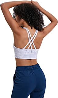 Women's Cross Back Gym Bra, Sexy Shockproof for Fitness Workout Running Sports Yoga Tank Top,4