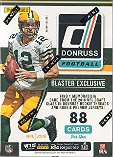 19d05cab03b 2016 Donruss NFL Football Unopened Retail Box of Packs with One GUARANTEED  Blaster EXCLUSIVE Rookie Threads