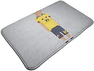 HUTTGIGH Pixel James Rodríguez - Felpudo antideslizante para entrada de baño, cocina o piso, 19,5 x 31,5 pulgadas