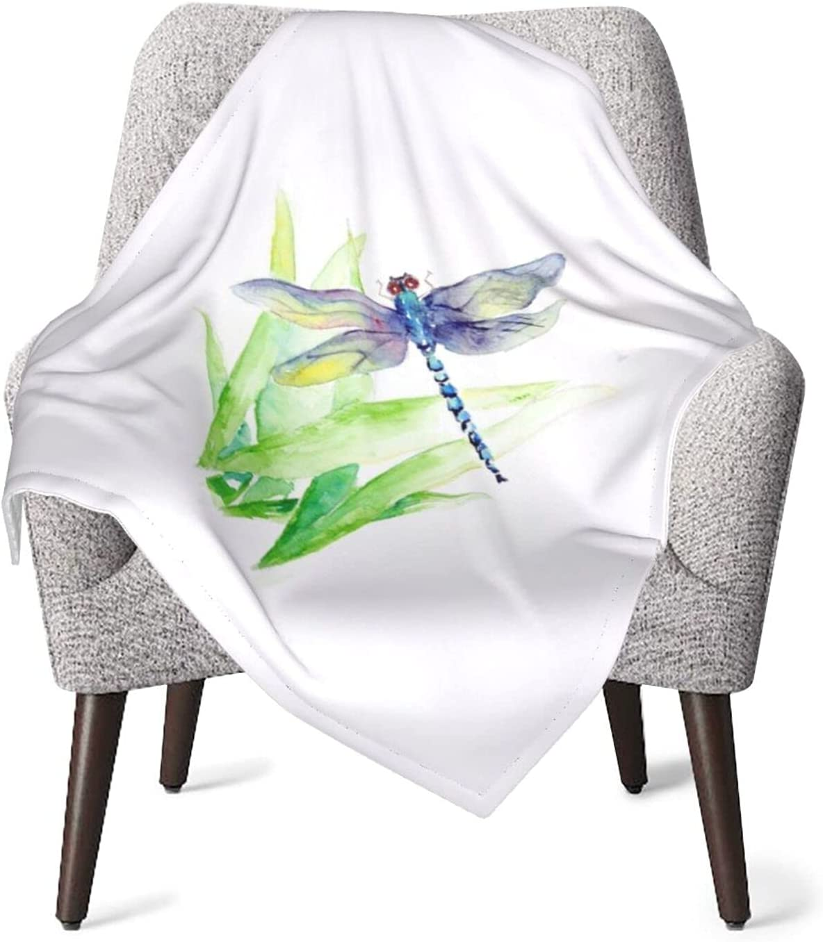 JZDACH Unisex Baby Max 66% OFF Receiving Gray Blankets Dragonfly Ranking TOP5 Painting I