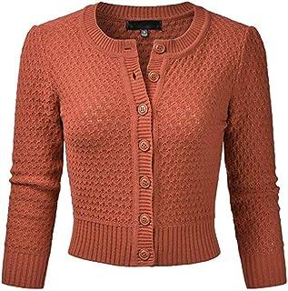 2c38e1a942d3 Puimentiua Cárdigan Bolero Manga 3/4 Mujer Chaqueta de Punto Tops Blusa  Casual Sweater Elegante