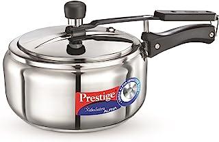 Prestige Nakshatra Alpha Stainless Steel Pressure Cooker, 3.5 Litres,Silver