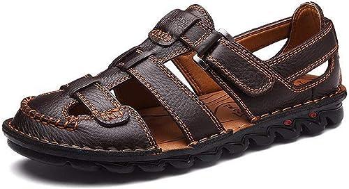 KMJBS-L'été Les Sandales Les Chaussures De Plage Baotou Moyen Et De Vieillesse noir Quarante - Et - Un