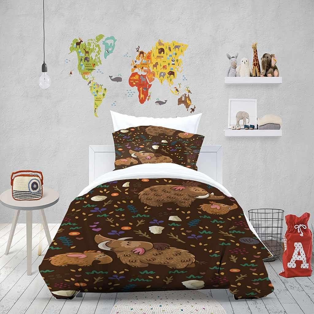 AKGTWX Duvet Max 40% OFF Mesa Mall Cover Soft Microfiber Beddi Animal Elephant Cartoon