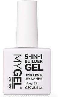 Mylee 5 En 1 Esmalte de Uñas Fotalecedor UV LED Gel Transparente para Uñas Duras y Fuertes Da Forma y Alarga Tus Uñas P...
