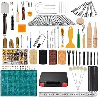 XDXDO Kit d'outils de Couture à la Main en Cuir 37pcs Outils d'artisanat en Cuir Outils de Couture en Cuir pour la Couture...