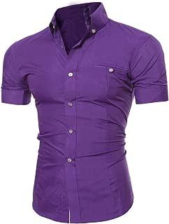 ZEFOTIM Men's Casual Button O Neck Pullover Short Sleeve T-Shirt Top Blouse