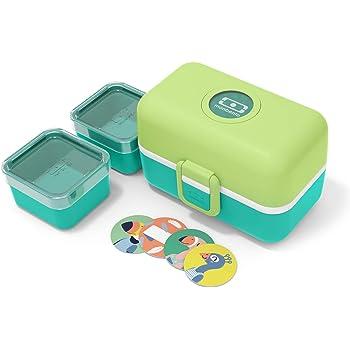 monbento - MB Tresor Verde Apple Fiambrera Infantil - Lonchera para niños 3 Compartimientos - Caja merienda - Bento Box sin BPA - Segura y Duradera: Amazon.es: Hogar
