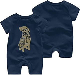 Baby Infant Toddler Bodysuits I Love Big Mutts and I Cannot Lie Cotton Short Sleeve Climb Romper