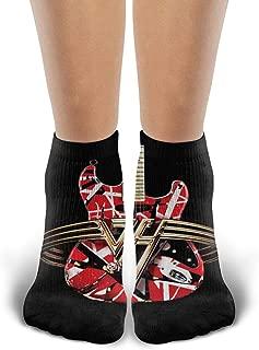 Crew Novelty Cotton Socks, Van Ha-len, Running Cycling Athletic Casual Ankle Cozy Funny Socks