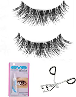 Colour Blast Eyelash Eyelashes With Glue And Eyelashes Curler 3D Mink Eyelashes Strip False Eyelashes For Women Eyelashes Natural