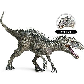 Eden Toys インドミナツ レックス インドラプター インドラプトル キッズ 孫 恐竜 誕生日 プレゼント リアル フィギュア PVC おもちゃ 34cm級 塗装済
