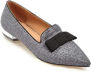 BalaMasa Womens Studded Fringed Beaded Urethane Pumps Shoes APL10767