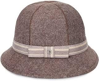 ZiWen Lu Hat Female Autumn and Winter Korean Version of The Woolen Eight Piece Mosaic Basin Cap Folding hat Outdoor Warm Fisherman hat (Color : Brown, Size : 57cm)