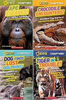 National Geographic Kids Chapters Books Pack: Ape Escapes! / Crocodile Encounters! / Dog Finds Lost Dolphins! / Tiger in Trouble! - Book  of the National Geographic Kids Everything