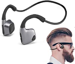 Bluetooth Conducción ósea Auriculares Bluetooth Auriculares Deporte inalámbrico Auriculares Sweatproof con micrófono para deportes como correr Conducir Ciclismo compatible con iOS Android (negro)