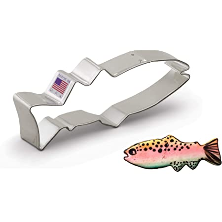 Large ~ Large Mouth Bass ~ Fish Copper Cookie Cutter Handcrafted by The Fussy Pup