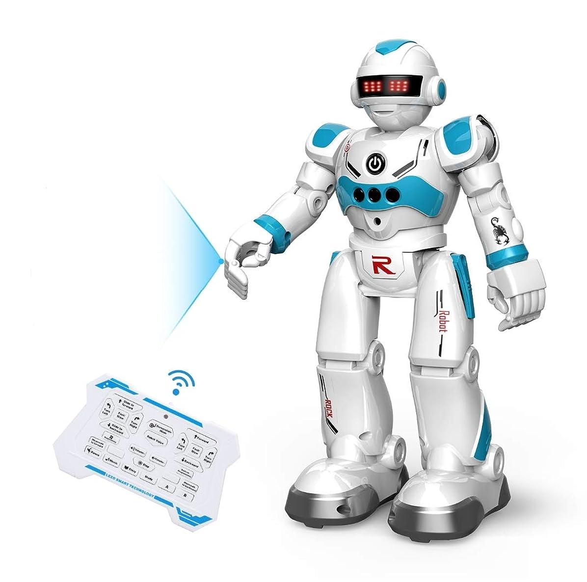 でもリーン特別なDEERC ロボット おもちゃ 電動ロボット ラジコン 男の子 多機能ロボット プログラム可能 手振り制御 男の子 女の子 子供の日 クリスマスプレゼント 99888-3