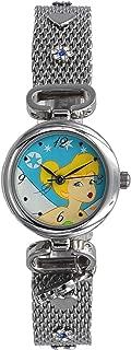Disney TNK101K Tinkerbell Women's Girl's Silver Tone Mesh Band Hanging Charm Watch