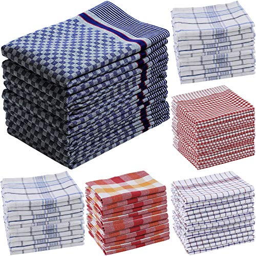 Heim24h 5er-Set Geschirrtücher - Küchentücher aus Baumwolle (100 x 50 cm, Blau)