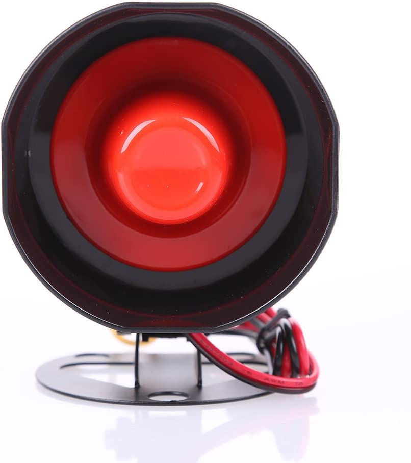 EASYGUARD SC6T Universal Replacement car Alarm Siren 6 Tone Alarm Loudspeaker Electronic Horn Compatible with Car Alarm DC12V 15W 120DB