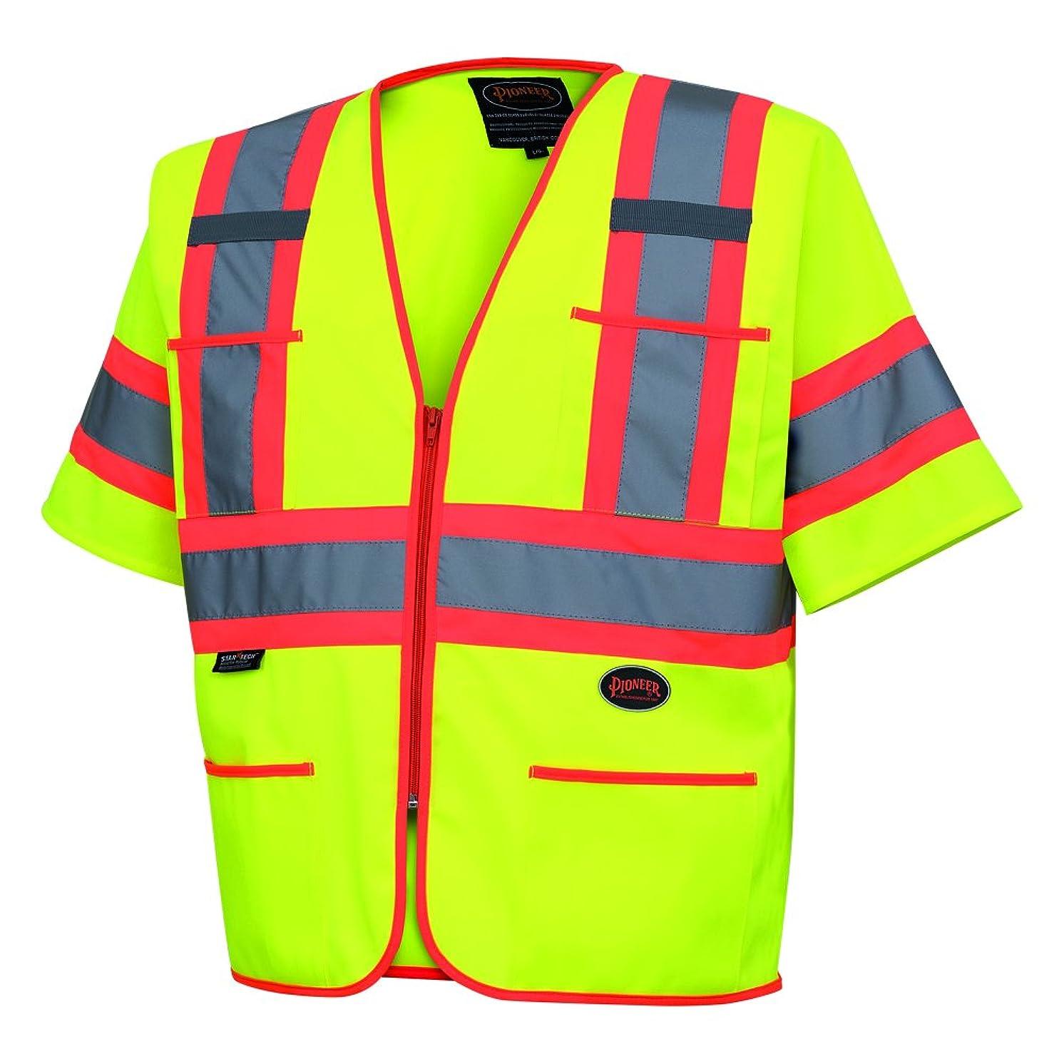 Pioneer V1023560U-2XL V1023560U Hi-Viz Polyester Sleeved Vests, 0.25