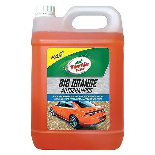 Turtle Wax 52817 Big Orange Car Shampoo Cleans with Streak Free Finish 5 Litre