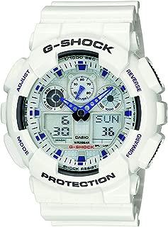 G Shock Men's Quartz Sport Watch with Resin Strap, White,...