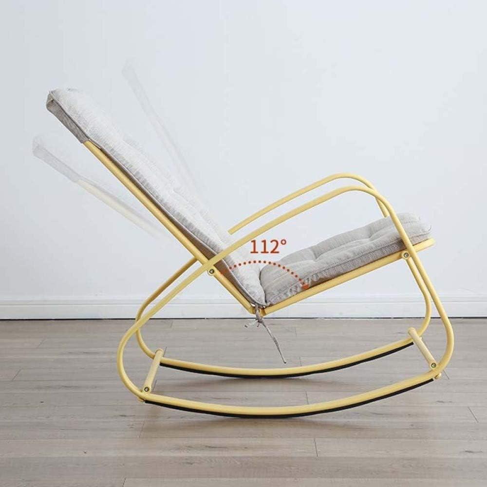 Y&MoD Fauteuil à Bascule, Chaise berçante avec Siège Rembourré, Housse en Coton, Capacité de Charge 100 kg pour Le Salon Balcon Chambre B