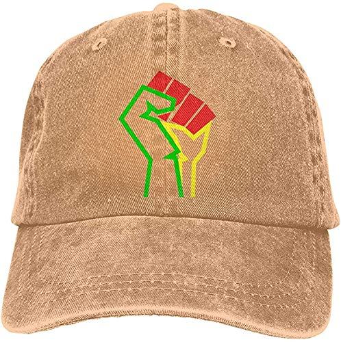 Bandanas Gorra de béisbol unisex de estilo africano americano, unisex, con correa trasera, ajustable, para camionero y papá