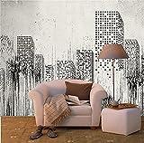 BLZQA Fotomurales Papel pintado tejido no tejido Murales moderna la vista de la ciudad Arte de la pared Decoración de Pared decorativos 300x200 cm-6 panelen