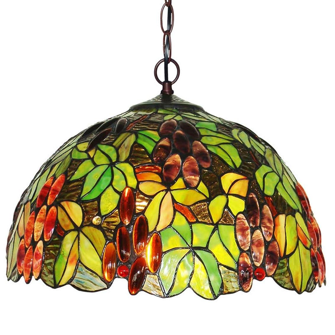 粘り強いスキームクリップティファニースタイルのシャンデリア、16インチクリエイティブステンドグラスのリビングルームの寝室の装飾的な天井ペンダントランプ吊りランプ、E27 / E26最大60W * 2