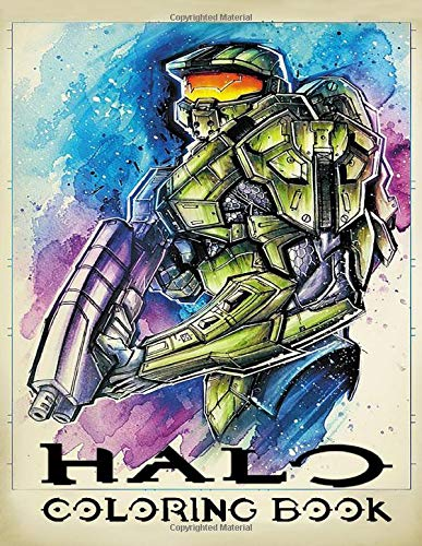 Halo Coloring Book: Join Master Chief John-117 team to fight the Covenant