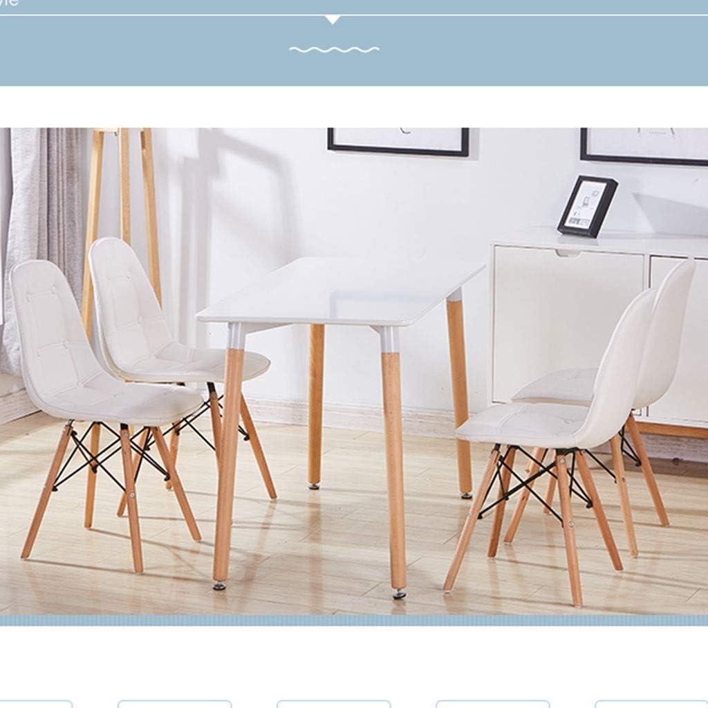 HEJINXL Cuisine & Maison Chaises Tulip Chaises Salle Manger avec Solide Pattes Bois Cuir Coussin Chaises Longues Chaises Cuisine Chaises Salon (Color : D) D