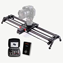 KONOVA Motorized Slider P1 Series Carbon Slider Dolly with S2 for Parallax Panorama Shot and Supports Camera, Gopro, Mobile Phone, DSLR, Mirrorless with Bag (60cm (23.6 inch))