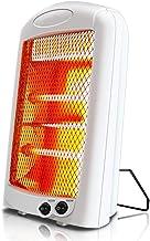 HM&DX Infrarrojo Eléctrico Cuarzo Calentador,Silenciosa Radiante Inclinar-sobre la protección 2 Ajustes de Calor 600w Bajo Consumo Estufa halógena para Inicio Oficina-Blanco