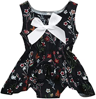 Moonker Girls Dresses,Infant Toddler Baby Girls Summer Sleeveless Fruits Clothes Party Princess Dress 0-2 Years Old