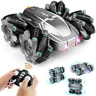 BEIWO RC Cars Drift Stunt Car Toy, 4WD 4-Directional [Sideways] Drifting 2.4GHz Remote Control Car Double Sided Rotating V...