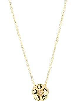 코치 목걸이 COACH Tea Rose Pendant Necklace,Golden