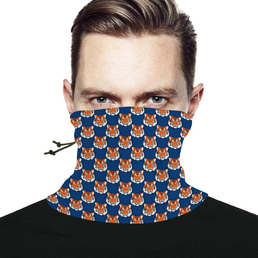 Tigers Seamless Scarf Headwear Neck Gaiter Bandana Neck Warmer Multifunctional Face Cover Windproof UV Protection For Men Women