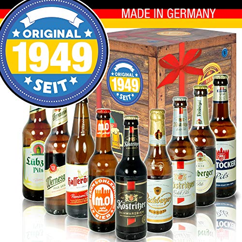 Original seit 1949 - Biersorten Ostdeutsch - Geburtstagsgeschenk witzig Männer