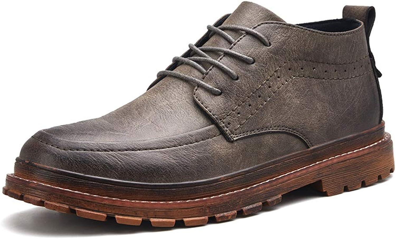 Men's Boots, Combat Boots High-top Fashion Martin Boots Microfiber Fall Winter Comfort Boots Black Brown Khaki shoes